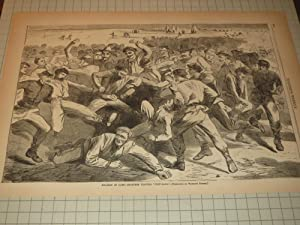 "1865 Winslow Homer Engraving of ""Holiday in Camp--Soldiers Playing Football"": Winslow ..."