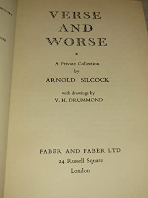 Verse and Worse (Signed Copy): Arnold Silcock & V.H.Drummond (drawings)