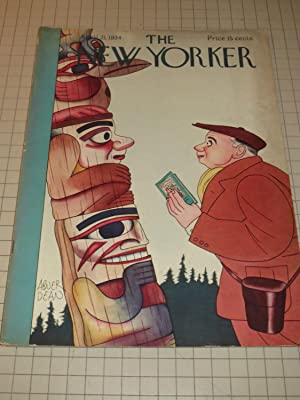 April 21,1934 The New Yorker Magazine: Totem: Francis Steegmuller -