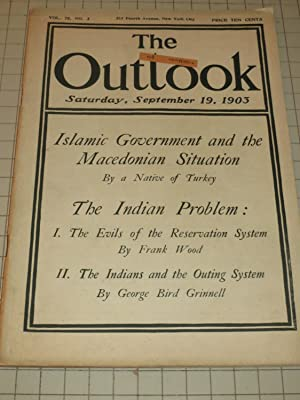 1903 The Outlook Magazine: Islamic Government and the Macedonian Situation - The Indian Problem - ...