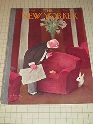 March 23,1940 The New Yorker Magazine: John Cheever - Chas. Addams - Metropolitan Museum of Art - ...