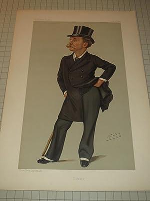 """1889 Vanity Fair Print """"Tommy"""" Thomas Gibson Bowles - Founder of Vanity Fair: Leslie Ward..."""