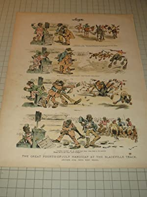 "1894 Judge Lithograph of ""The Great Fourth-Of-July Handicap At The Blackville Track - 19th ..."
