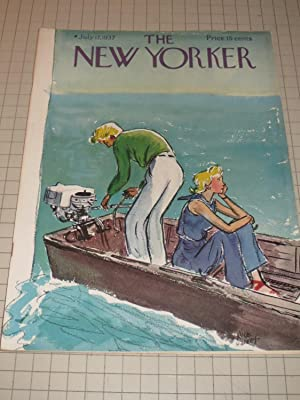 July 17,1937 The New Yorker Magazine: James Thurber - Thomas Wolfe - Emily Hahn - Genet - Lewis ...