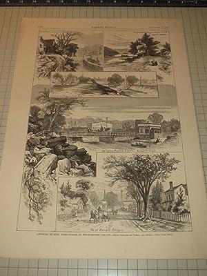 "1873 HW Engraving of ""Annexed to New York"" - Scenes in Westchester County: Schell & Hogan"