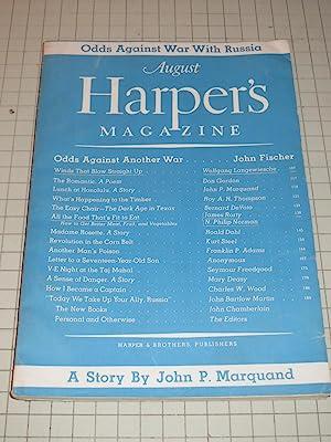 1945 Harper's Magazine: Roald Dahl - John P. Marquand - VE Night at the Taj Mahal - Another ...