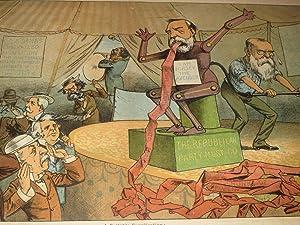1883 The Judge Lithograph of N.Y. Sun Editor C.A.Dana & Dorsey the Avenger - The Republican ...