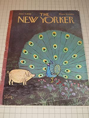 June 4,1966 The New Yorker Magazine: The Pig and the Peacock Cvr - William Steig - Edmund Wilson - ...