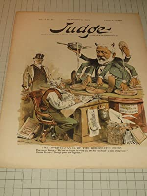"1888 Judge Cvr Lithograph of ""The Invented Orge of the Democratic Press"": Grant Hamilton"