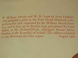 William Morris and W.B.Yeats: Peter Faulkner