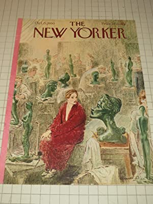 Oct.21,1950 The New Yorker Magazine Cvr: The Lady with a Bust - Statues Galore: Garrett Price