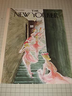 Mar.2,1963 The New Yorker Magazine Cvr: Ballet Dancers Heading For the Stage: Suzanne Suba
