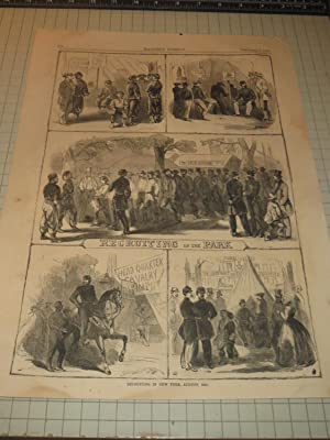 "1861 HW Civil War Engraving of ""Recruiting in New York, August,1861"" - Civil War ..."