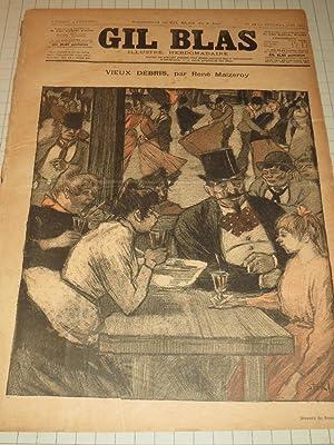 1892 Gil Blas Illustre Hebdomadaire - Drinking in a Paris Cafe - Theophile Steinlen - Belle Epoque ...