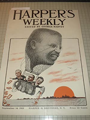 1912 Harper's Weekly: Teddy Roosevelt as Hot Air Balloon - Edward Kemble T.R./Bull Moose ...