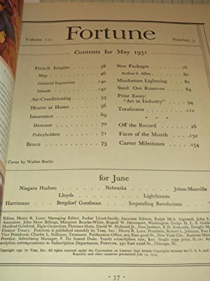1931 Fortune Magazine: French Empire - Hearst Castle - Insurance - Package as Merchandiser - ...