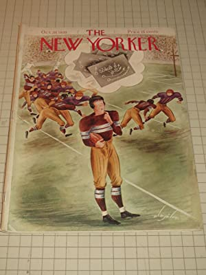 Oct.28,1939 The New Yorker Magazine: Football Cvr - A Nazi History of the World - James Thurber - ...