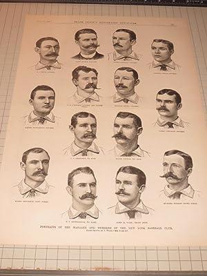 "1886 Frank Leslie Illustrated ""Portraits of the: J.Wood"