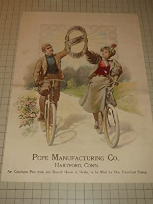 1897 Pope Manufacturing Co. Bicycle Ad -