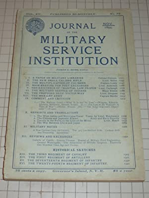 1894 Journal of the Military Service Institution: