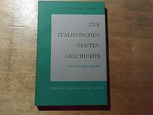 Zur italienischen Geistesgeschichte des 19. Jahrhundert - Studi Italiani Band 6