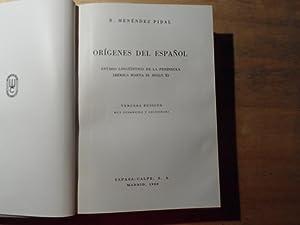 Origenes del Espanol - Estado lingüistico de la peninsula iberica hasta el siglo XI: Pidal,Menendez...