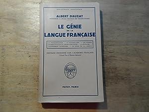 Le Genie de la Langue Francaise: Dauzat,Albert