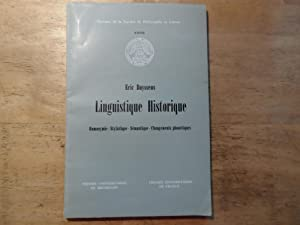 Linguistique Historique: Buyssens,Eric