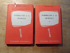 Introduccion a la gramatica - I/II: Pons,Jose Roca