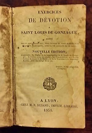Exercices de dévotions à Saint-Louis de Gonzague donné par le Pape Benoit XIII...