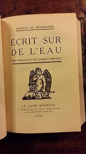 Baroque suivi de Ecrit sur l'eau et de La jeune fille au jardin: Francis de Miomandre