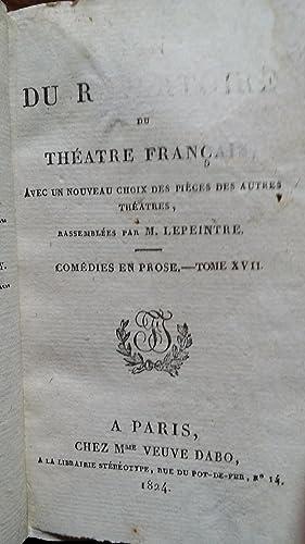 Fin du répertoire du Théâtre Français, avec un nouveau choix des pi&...