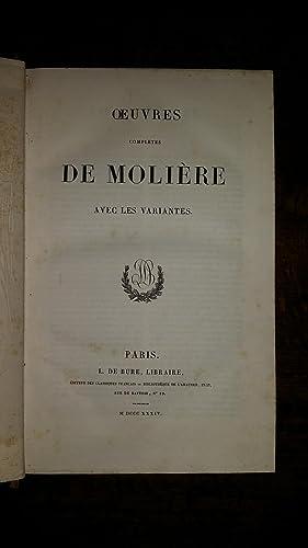 Oeuvres complètes de Molière, avec les variantes: Molière