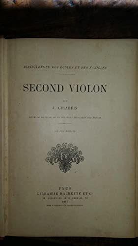 Second violon: J. GIRARDIN