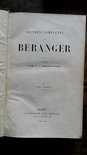 OEUVRES COMPLETES DE BERANGER. Nouvelle édition illustrée par J.-J. GRANDVILLE. Tomes...