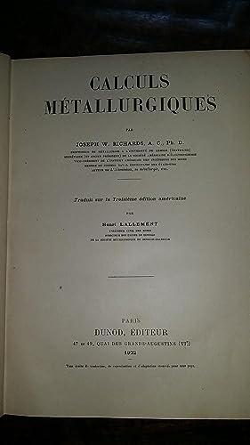 Calculs Métallurgiques: Joseph W. Richards