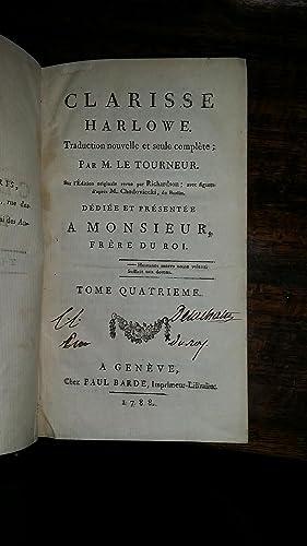 Clarisse Harlowe. Traduction nouvelle et seule complète ; par M Le Tourneur sur l¿&...