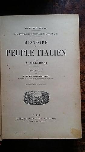 HISTOIRE DU PEUPLE ITALIEN.: MELANDRI A.
