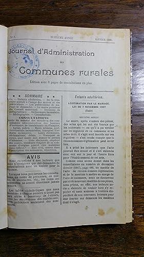 Journal des communes rurales année 1908: Collectif