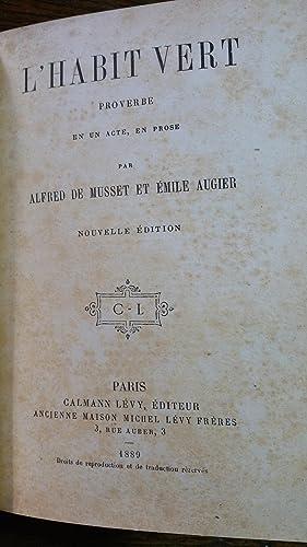 LE BAISER DU JOUR DE L'AN, Comédie en un acte, en prose. Suivi de L'HABIT VERT, ...