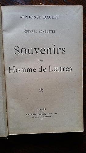 Ouvres complètes : Souvenirs d'un homme de lettres - La petite paroisse, mours ...