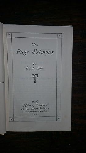 UNE PAGE D'AMOUR: E. Zola