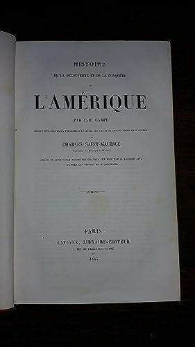 Histoire de la découverte et de la conquête de l'Amérique: J.-H. CAMPE - ...