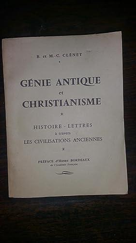 Génie antique et christianisme Histoire - Lettres à travers les civilisations ...
