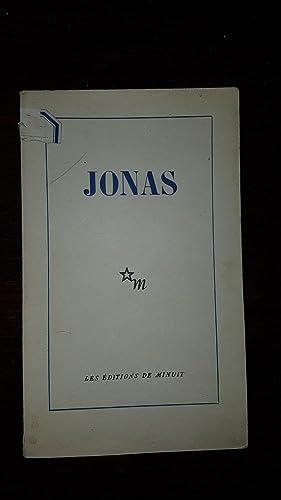 Jonas. Le Livre de Jonas traduit par: Jérôme LINDON