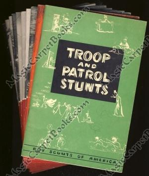 Ten Boy Scouts of America booklets (Troop and Patrol Stunts; Fun Around the Campfire; Life Saving...