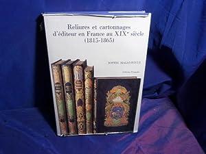 Reliures et Cartonnages d'éditeur en France au: Malavieille Sophie