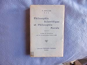Philosophie scientifique et philosophie morale