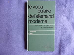 Le vocabulaire allemand moderne