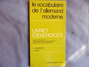 Le vocabulaire de l'allemand moderne-livret d'exercices